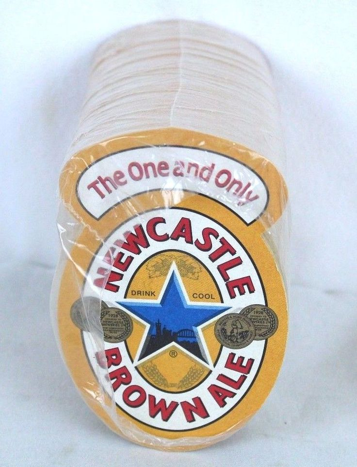 Pkg Newcastle Brown Ale Beer No Bullocks Bar Coasters The One Only Barware New  #NewcastleBrownAle