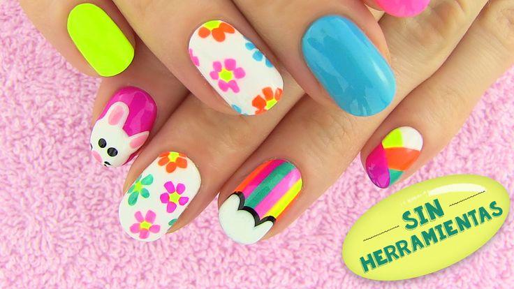 5 diseños de uñas sin usar herramientas especiales - Nail Art Designs - Video Tutorial - http://xn--decorandouas-jhb.com/5-disenos-de-unas-sin-usar-herramientas-especiales-nail-art-designs-video-tutorial/