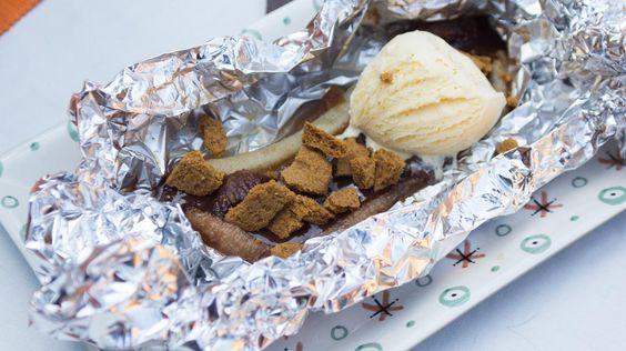 Dessert op de barbecue: papillot met banaan, rum en chocolade | VTM Koken