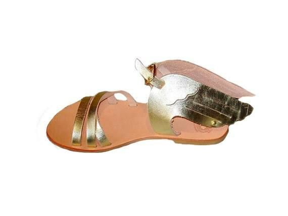 Hermes Winged Sandals Summer Shoes handmade by LeatherDream 57$