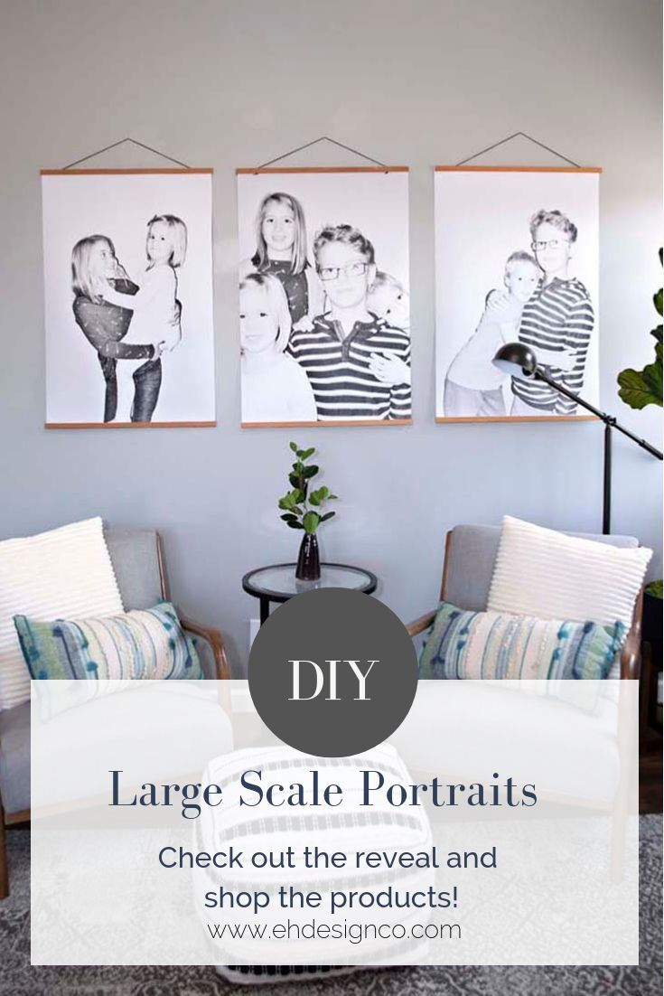 Modern Large Scale Portraits With Images Large Wall Decor