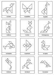 Contours d'animaux pour tangram à imprimer gratuitement
