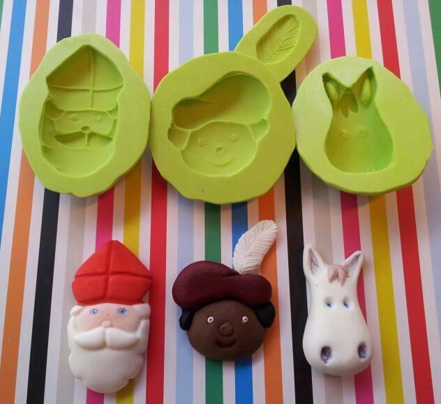 Sinterklaas & Zwarte Piet molds gemaakt door www.sweetycake.nl