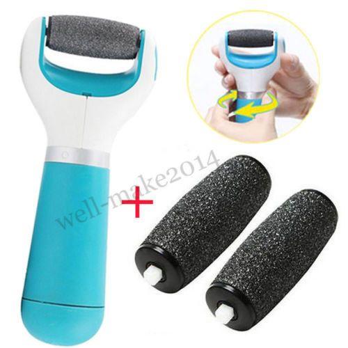 Brand Pedi Perfect Electronic Pedicure Foot File Callus Shaver/Remover+2 roller