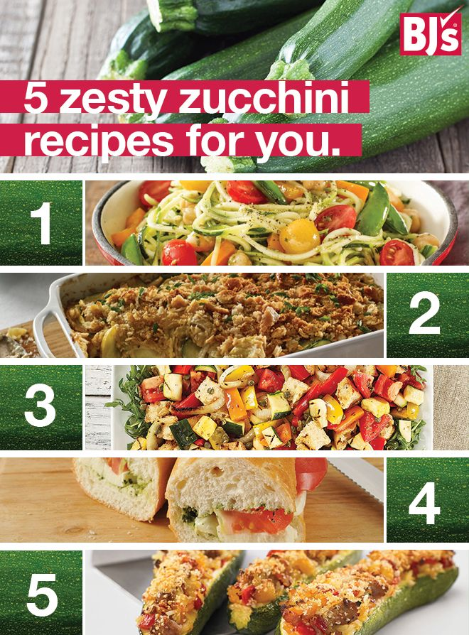 August is peak zucchini season. Plan a week of meals around zoodles, stuffed zucchini and more. http://stocked.bjs.com/food/save-smart-eat-well-zucchini