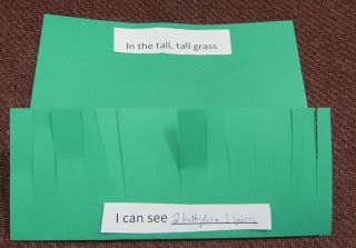 in the tall tall grass preschool scissor skills activity