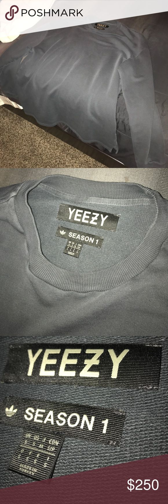 Yeezy Season 1 Black Sweatshirt Mint condition black sweatshirt from season 1 of yeezy. No holes or marks. Very warm and comfortable. Size Small but fits like a Large. Very rare! Yeezy Shirts Sweatshirts & Hoodies