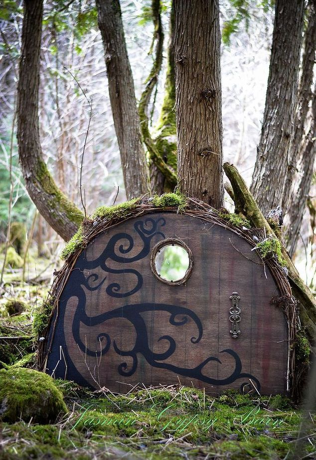 made from an old wooden table, magical garden doors for fairies hobbits gnomes and more, crafts, doors, gardening