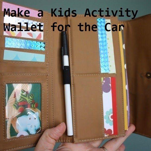 Life Hacks Make An Activity Wallet For Kids