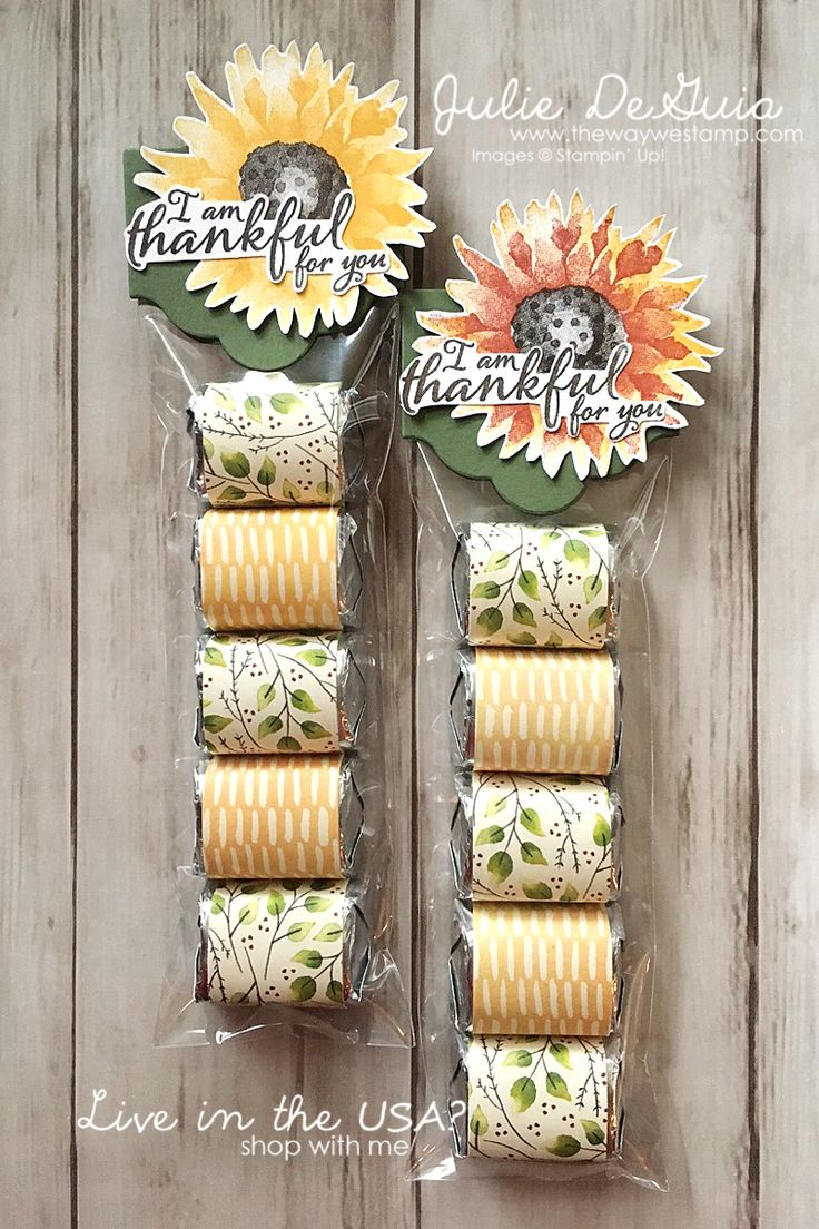 Thanksgiving Treat Bags with Painted Harvest and Painted Autumn DSP by Stampin' Up! | handmade gifts | rubber stamping | Julie DeGuia | The Way We Stamp
