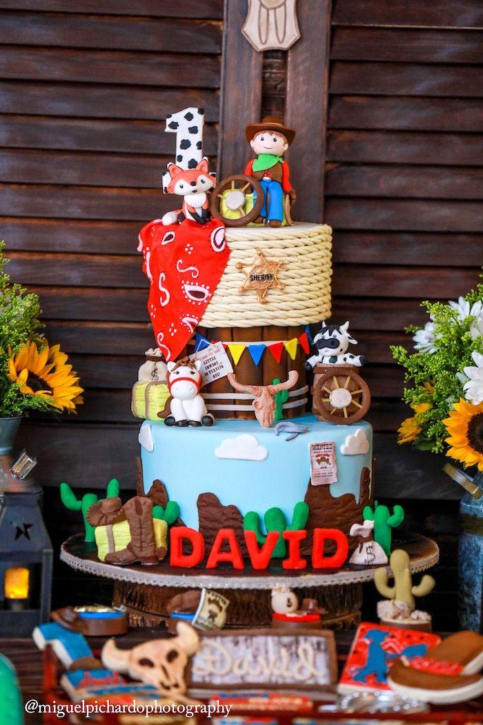 Western cake from a Western Cowboy Birthday Party on Kara's Party Ideas | KarasPartyIdeas.com (4)