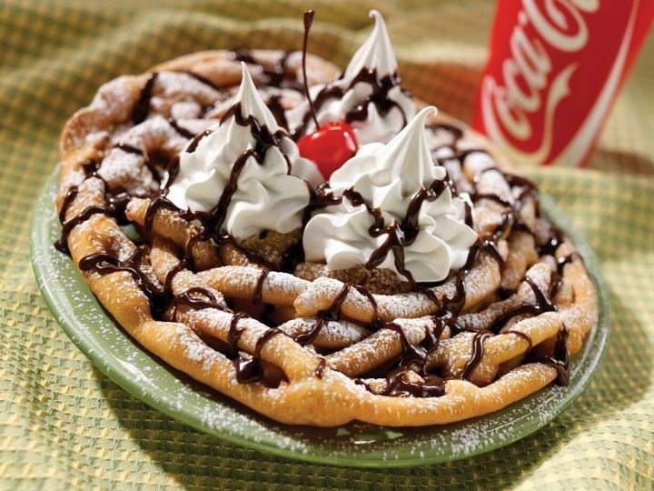 What is the best thing about funnel cakes?
