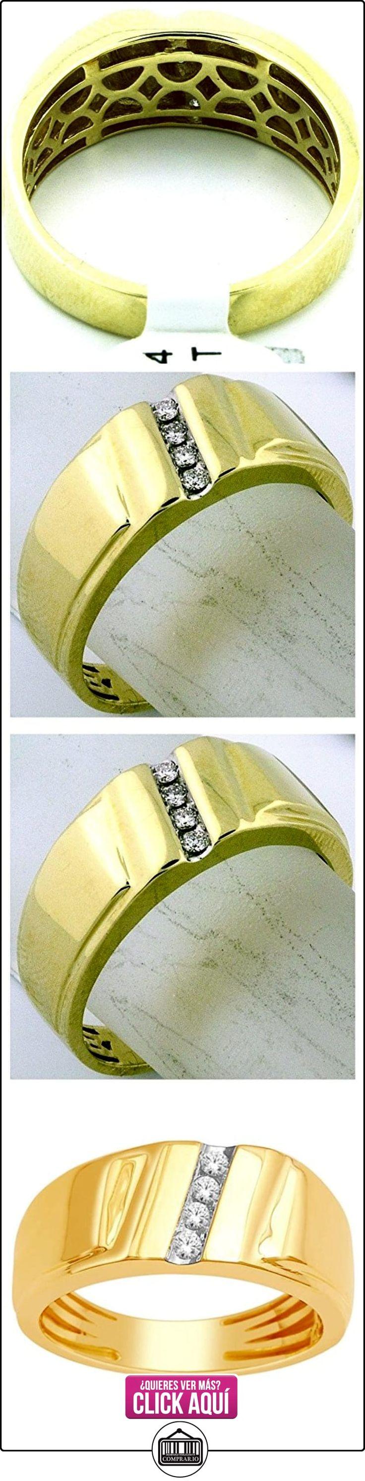 rings-midwestjewellery. com Hombre Boda Banda 10K oro 8,5mm de ancho 1/10cttw Diamonds Comfort Fit (I/J Color 0,1quilates)  ✿ Joyas para hombres especiales - lujo ✿ ▬► Ver oferta: https://comprar.io/goto/B00O2ESS40