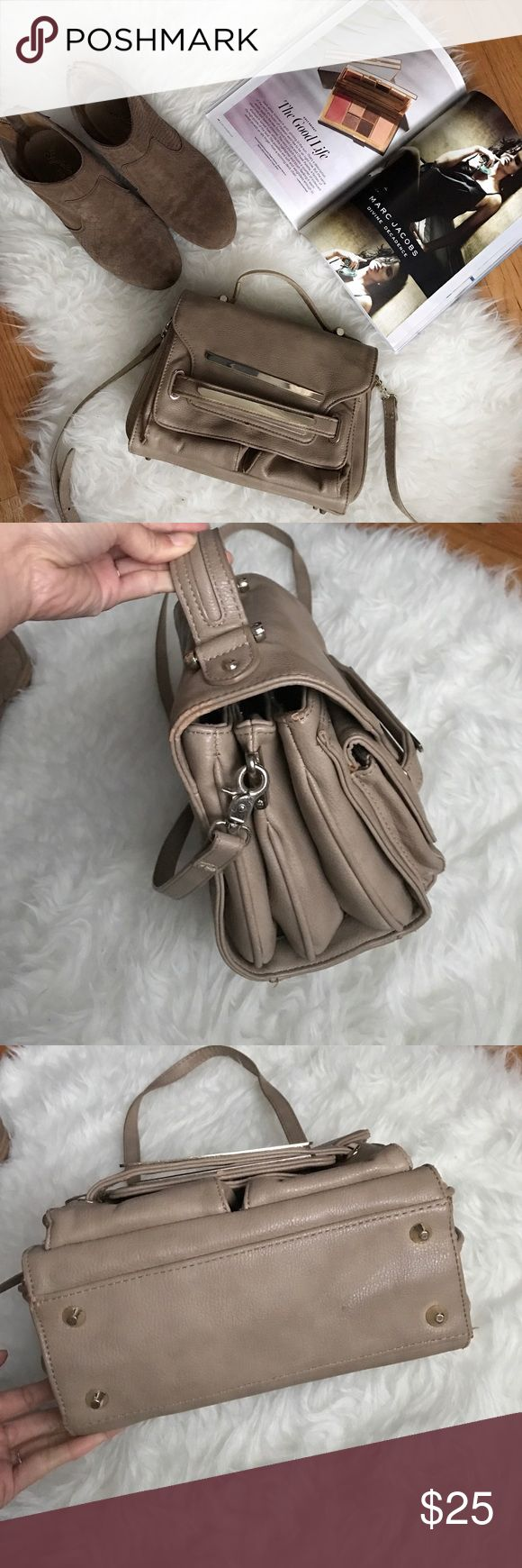 Cyber Monday Sale💥Zara Taupe Crossbody From ZaraBasic Collection, ton of rooms. Has 3 separate components. 4 credit cards slots and 1 pocket inside. Shown some signs of wear. Great deal!! For Holliday 🎁. Bought over $129. Comes with detachable strap. Zara Bags Crossbody Bags