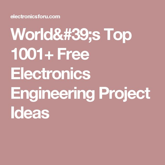 640 best Electronics images on Pinterest   Electronics projects ...