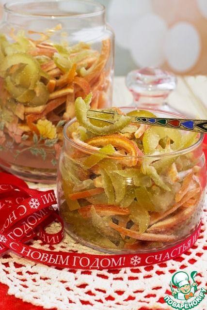 Цукаты из цитрусовых за 25 минут - кулинарный рецепт