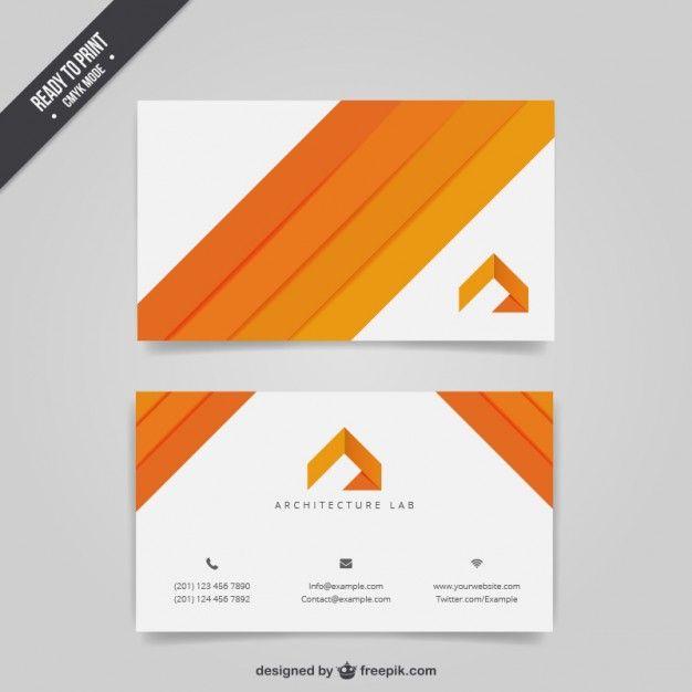 Arquitetura cartão de visita Vetor grátis