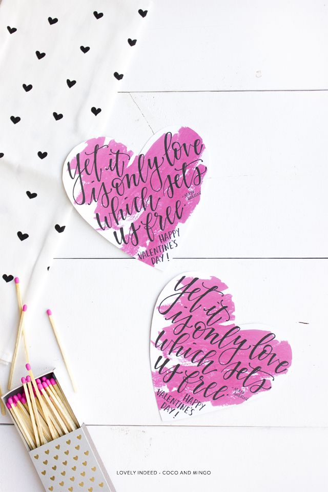 We Heart These 20 DIY Valentine's Day Cards: Yet It Is Only Love Which Sets Us Fre