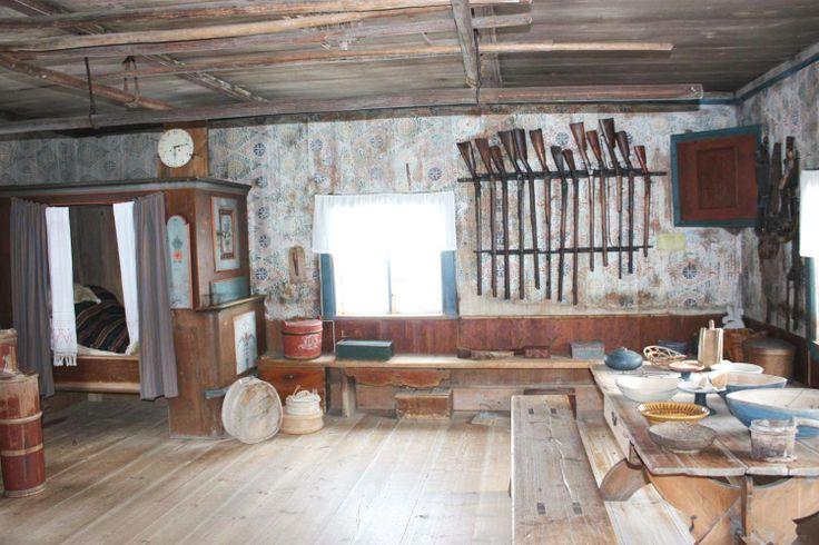 The old swedish log cabin bortom a in f gelsj orsa for Log cabin portici e ponti