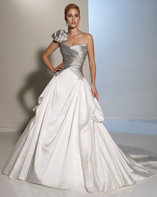 Elegant Silver Wedding Dresses By Sophia Tolli Primalia
