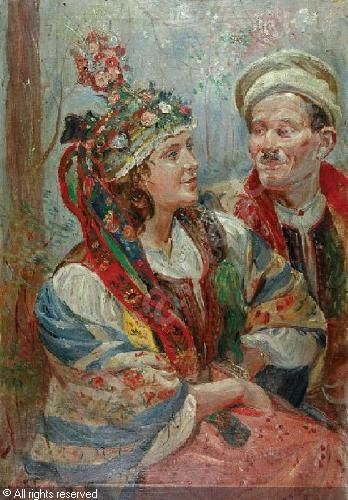 Wincenty Wodzinowski (Polish, 1866-1940) Para młoda