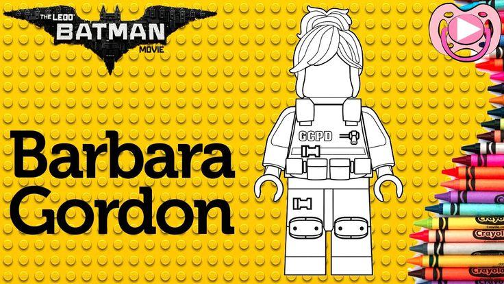 Lego Batman 2017 🦇 Colorir a comissária Barbara Gordon