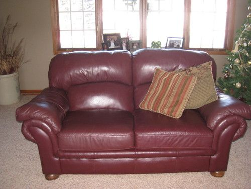 Awesome Maroon Leather Sofa Best 84 For Home Remodel Ideas With