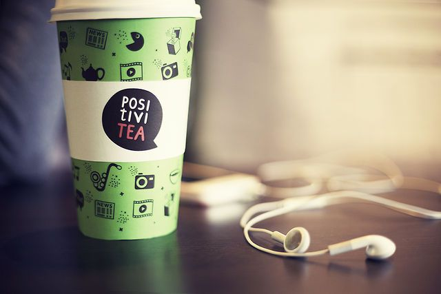 The concept behind the PositiviTea brand is 'Tea Fixes Everything'. The touch sensitive cups are filled not only with the tea, but also with the positive digital content contributed by the users. While enjoying the tea in a company or alone the tea drinkers may rise their mood by watching/listening/reading just the positive content of PositiviTea.