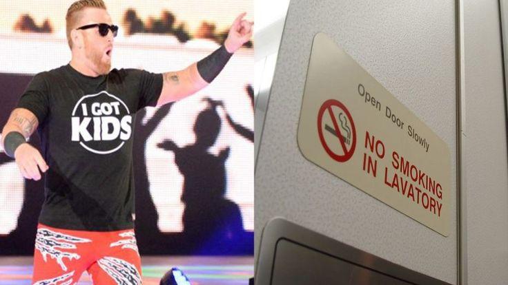 Heath Slater found himself in an awkward position...: WWE wrestler Heath Slater found himself in an awkward position on a flight the day…