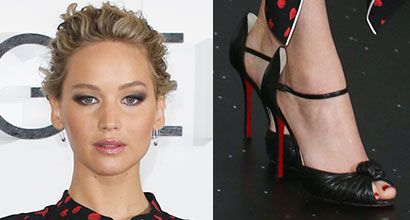 Jennifer Lawrence Promotes 'Passengers' in Christian Louboutin 'Marchavekel' Sandals