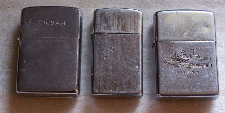 3 used zippo lighters zippolighter with images zippo