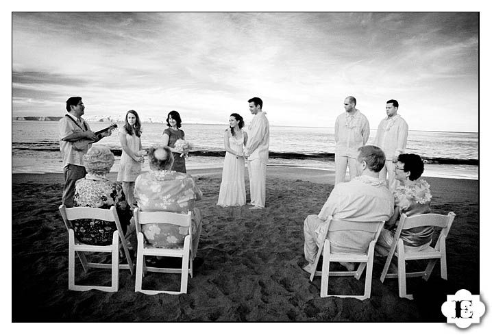 I love the idea of a very small, informal ceremony. My parents, my sister and her husband, my in-laws, nieces and nephews, maybe a few friends... everyone just having a wonderful time at the beach.