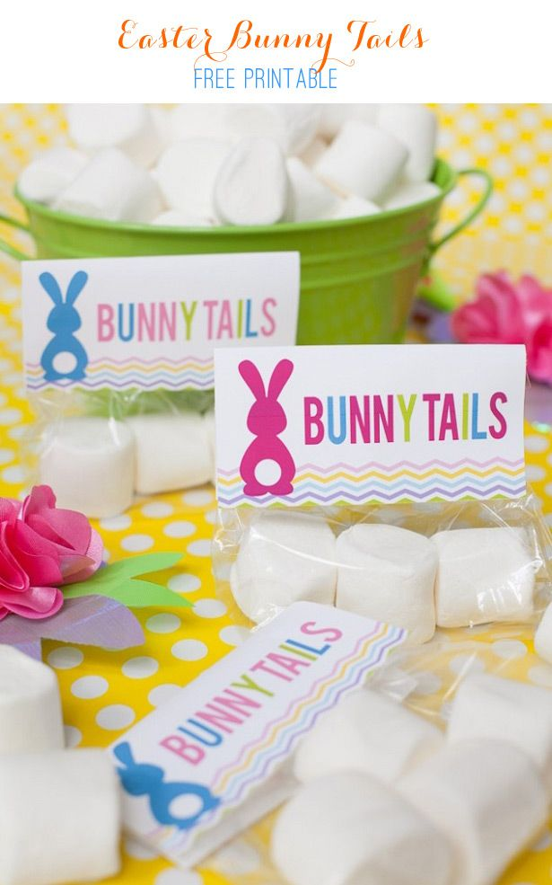 297 best treat toppers images on pinterest treat bags easter bunny tails treat free cello topper printable negle Images