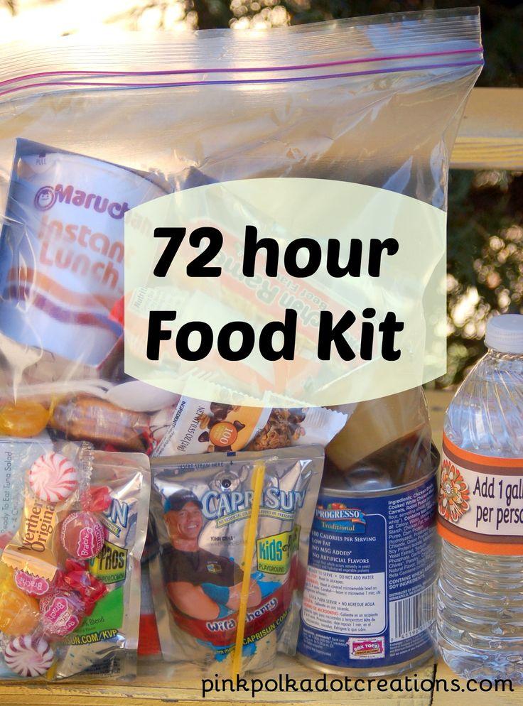 Pink Polka Dot Creations: 72 hour food kits for emergency ...