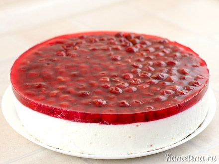 Творожный торт  с вишней — 14 шаг