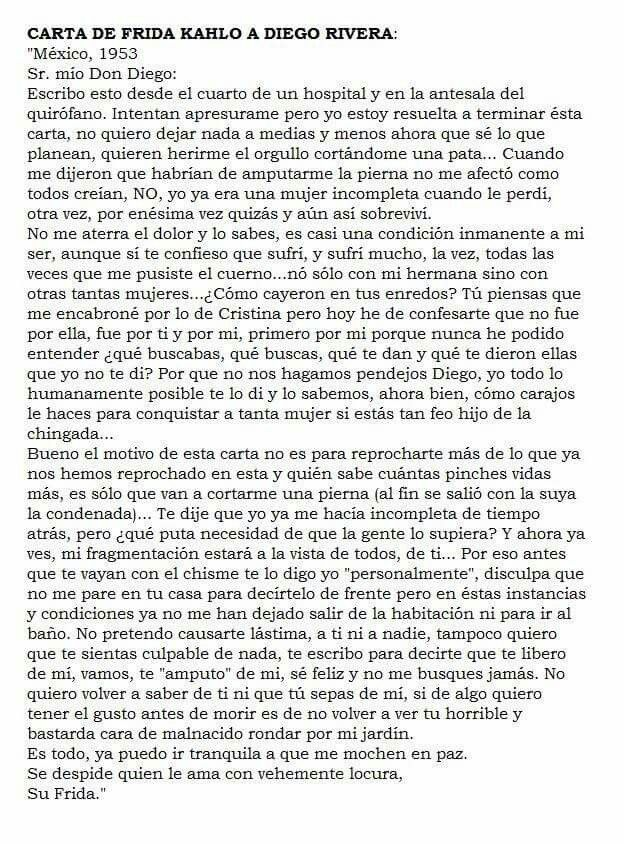 Carta de Frida