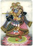 "Krishna Picture - Radha and Krishna - 4"""" Card"