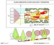 Diseños exteriores o interiores. Plano de planta y sección