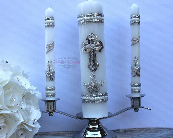 Boda Set de velas de unidad con o sin el sostenedor de vela