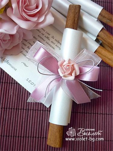 cinnamon stick, wedding #favor from www.violet-bg.com