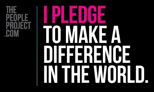I PLEDGE to make a difference in the world. http://thepeopleproject.com/share-a-mantra.php
