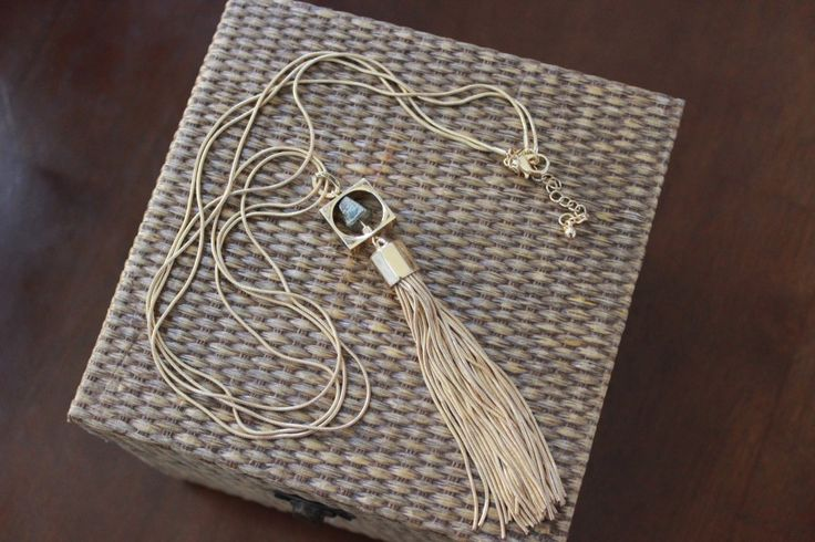 Romolo Canon Pyrite Tassel Necklace - Stitch Fix February 2016 #style #fashion #stitchfix