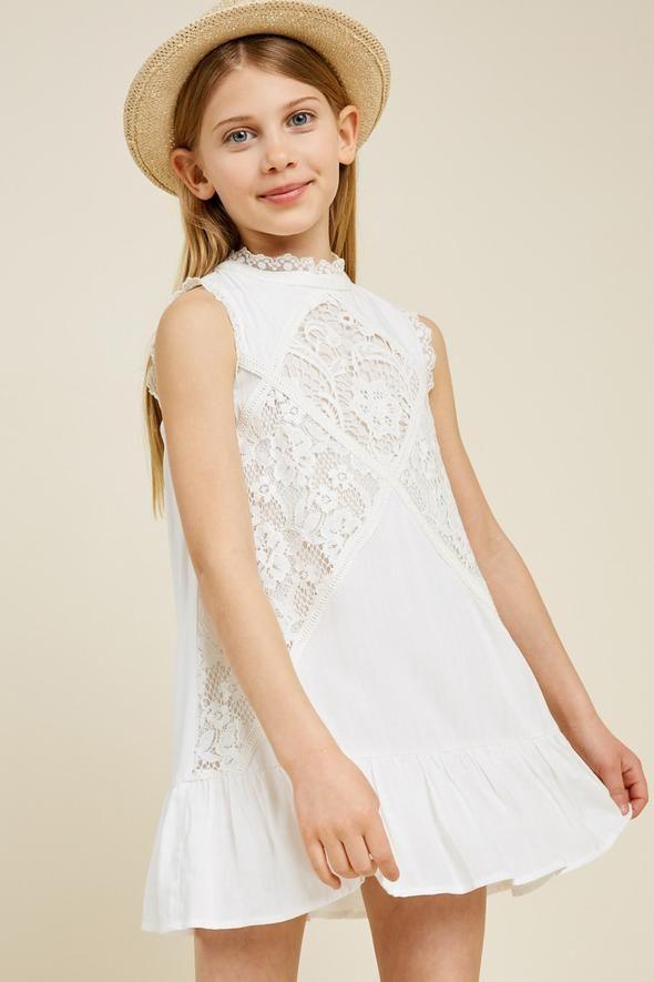 Sleeveless Mini Lace Tunic Sleeveless Lace Dress Dresses Girl Outfits