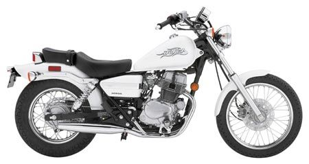 2006 Honda Rebel 250 (entry level bike for short people)
