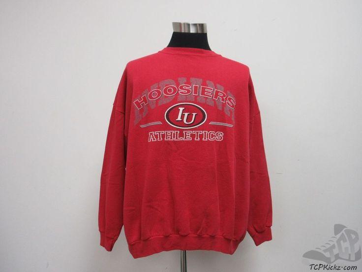 Vtg 90s Indiana Hoosiers Crewneck Sweatshirt sz XL Extra Large IU University  #Unknown #IndianaHoosiers  #tcpkickz