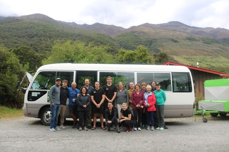 A group of 'Rimu' adventurers with their guides Steve and Joe.   #newzealand #activenewzealand #hikingnewzealand