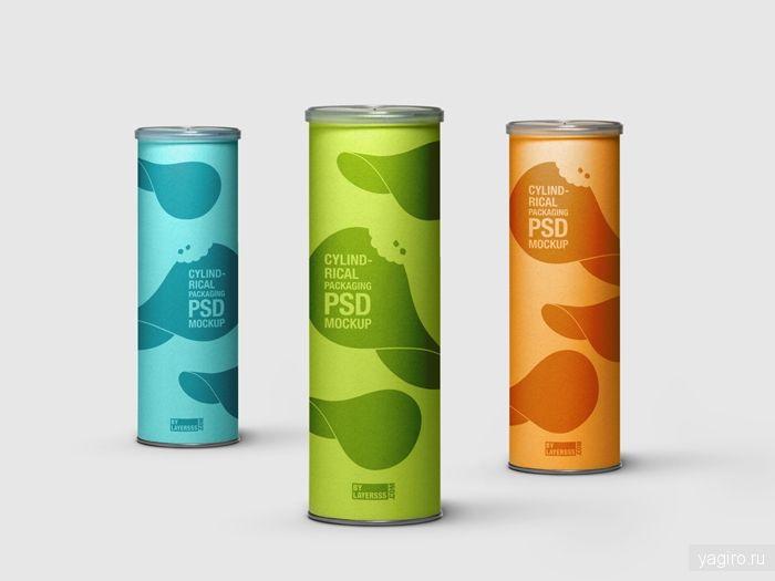 Мокап цилиндрической упаковки / Мокапы / Yagiro - сайт о дизайне и для дизайнеров