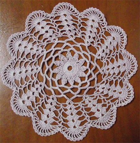 Shell pink doily hand-crocheted | AppleGum-Handmade | madeit.com.au