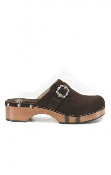 Traditional clogs 5035 bog suede leather