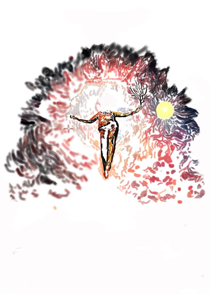 """Bosquejo de """"A modo de despedida"""" del libro: El Santuario que Arde"""" de Hernán Ergueta #hernanergueta #ilustracion #cuentos"""